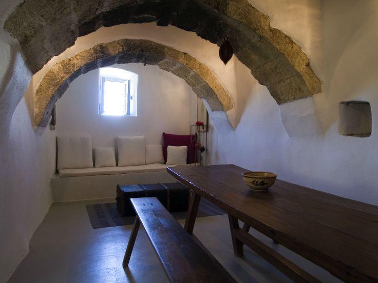 Traditional Dining Rooms at Villa Ariadni in Kithyra; http://instylevillas.net/property/ariadni-villla-kythira/