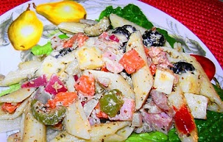 Muffaletta Pasta salad: Bayou Blues, Cajun Delights, Pasta Salad, Food, Awards, Mardi Gras, Muffaletta Pasta, Favorite Recipes, Salads