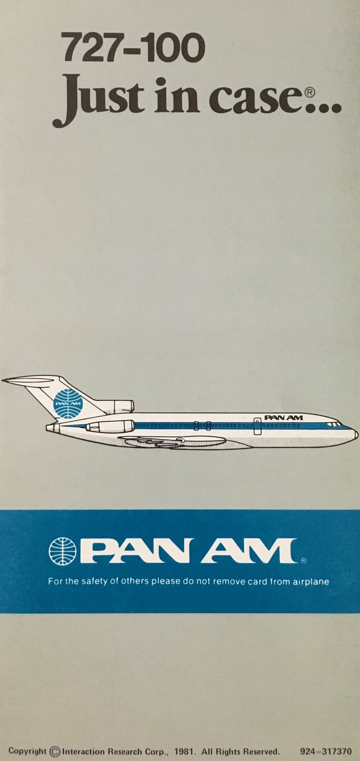 Pan Am 727-100 Just In Case...