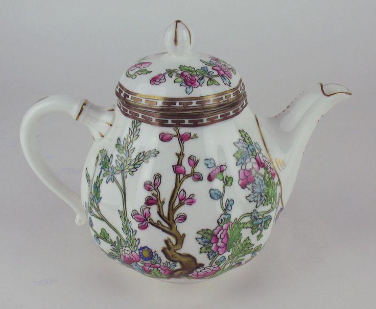 4 Cup Teapot Coalport Indian Tree Vintage England Multicolored | eBay