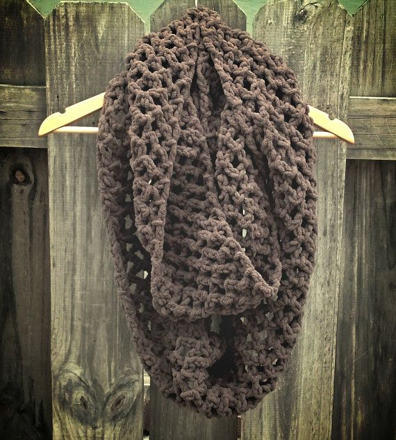 Check out this item in my Etsy shop https://www.etsy.com/listing/210864665/ctochet-infinity-scarf-double-or-triple wrap