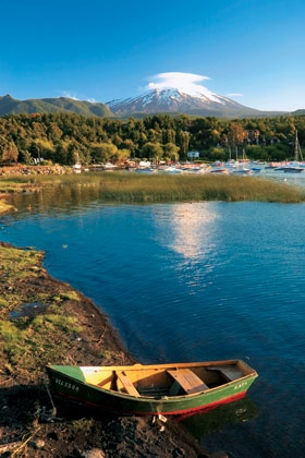 Villarrica Volcano Chile -- link is to a travel article about southern Chile