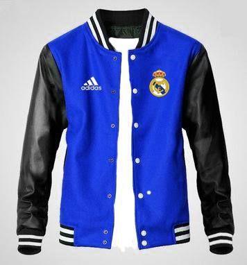 Jaket Varsity Real Madrid Biru