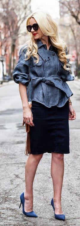 Denim On Denim On Denim Outfit Idea by Atlantic - Pacific