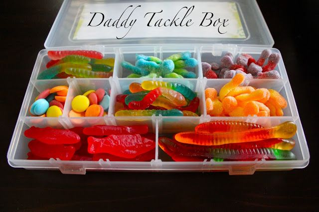 5 Frugal Father's Day DIY Gifts | DIY candy tackle box for Dad