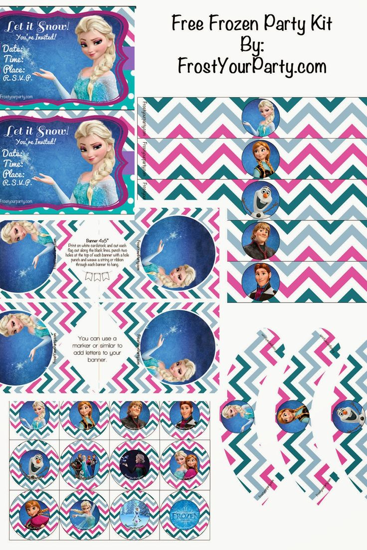 frost your party free disney frozen printable party decorations party frozen birthday party. Black Bedroom Furniture Sets. Home Design Ideas