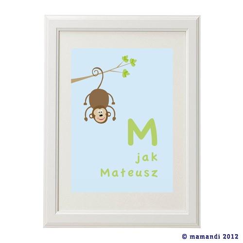 'M jak Małpka' plakat na www.mamandi.pl