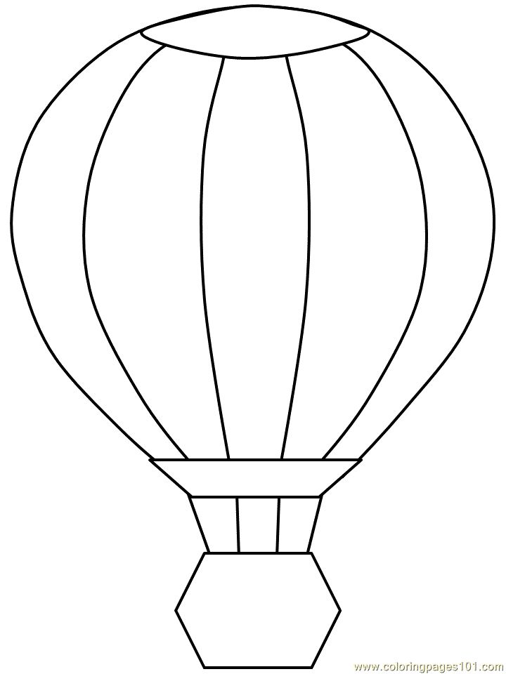 Balloon Coloring Pages