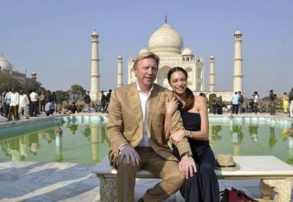 Boris Becker si sotia sa, Lily, la Taj Mahal