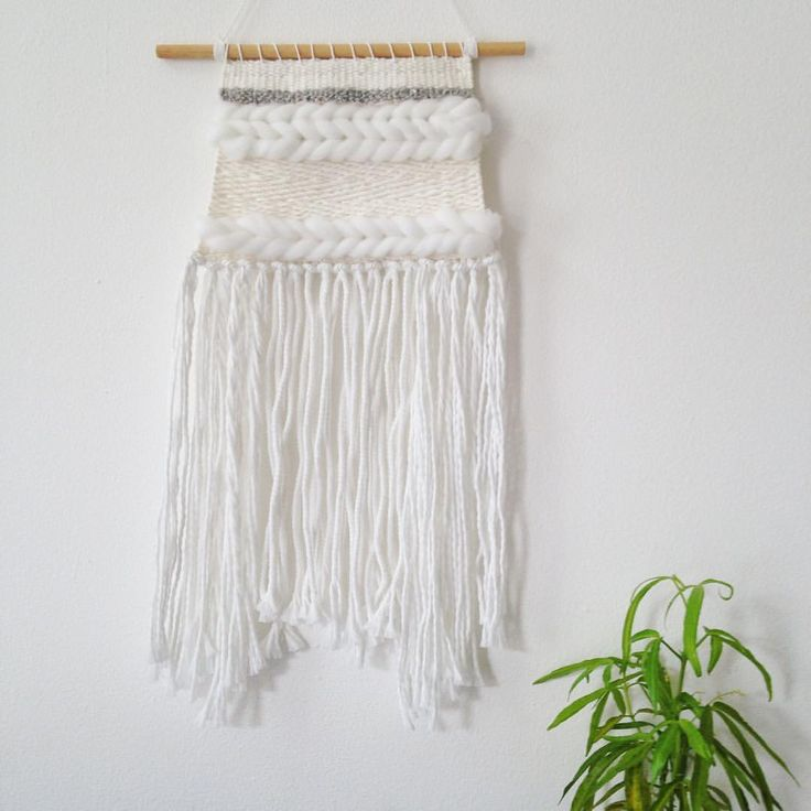 "29 Likes, 1 Comments - weaving • woven • macrame (@etalasecatchy) on Instagram: ""Woven Wall Hangings Weaving Wall Hangings Size 16,5 cm x 36 cm READY STOCK 1 PCS IDR 250,000…"""