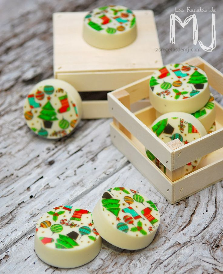 Galletas Oreo con chocolate blanco de Navidad / Oreo cookies with white chocolate for Christmas