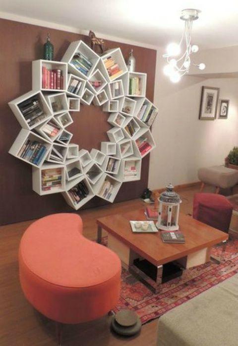 Great way to organize your library  | Шикарный вариант организации домашней библиотеки
