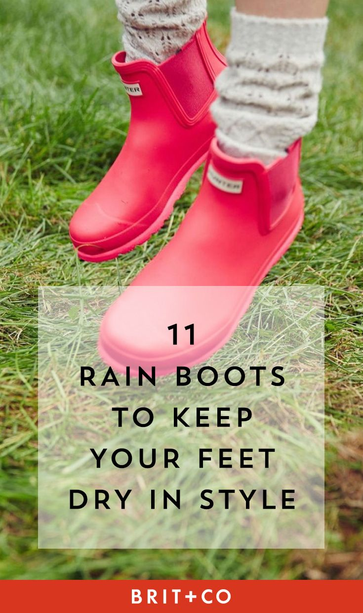 Your spring outfit needs a pair of these stylish rain boots.