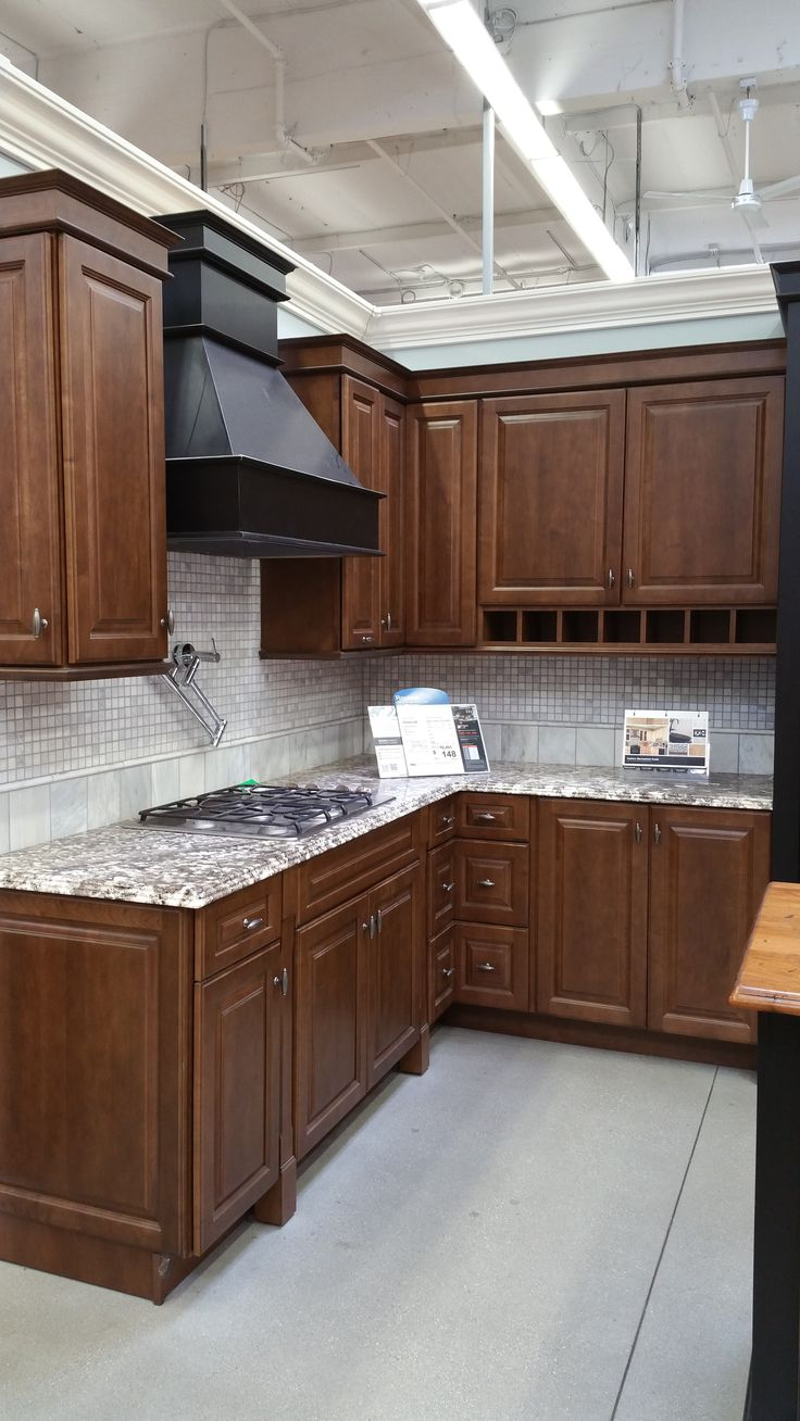"Thomasville ""Plaza"" Maple, stained ""Clove"" My cabinets ... on Maple Cabinets With White Countertops  id=38750"