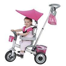 Avigo - Triciclo Evolutivo Aluminio Plata/Rosa