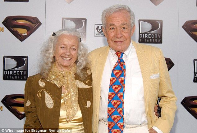 Reunited at last: Jack Larson, who played Jimmy Olson, with Noel Neill, who starred as Lois Lane in The Adventures of Superman at the 2006 Superman Returns world premiere