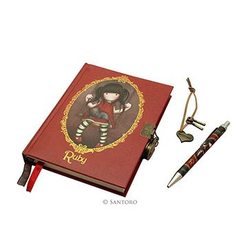 Σετ σημειωματάριο με κλειδαριά & στυλό «Ruby» Gorjuss