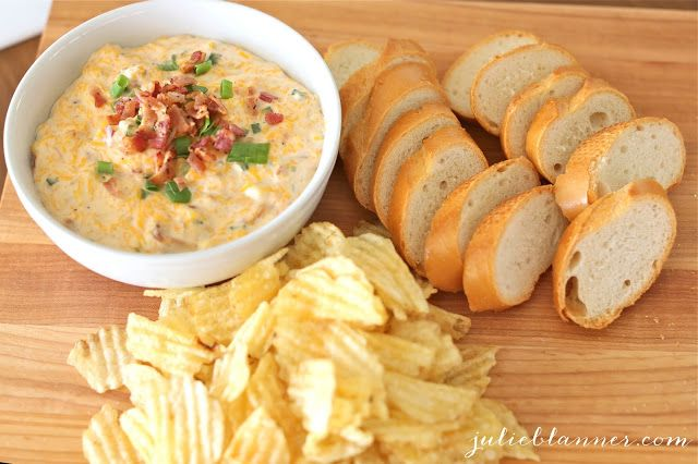 Bacon Cheddar Cheese Dip Recipe | http://julieblanner.com/bacon-cheddar-cheese-dip-recipe/