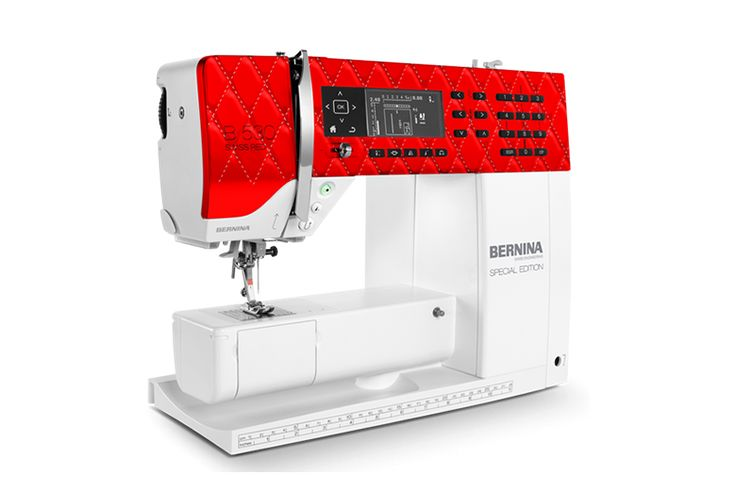 The BERNINA 530 Swiss Red provides legendary stitch quality, a powerful DC motor, 900 stitches per minute and comes with a free exclusive BERNINA suitcase. The specially designed faceplate celebrates the precision of quilting and Swiss craftsmanship. The BERNINA Stitch Regulator (BSR foot) can be added as an accessory at any time.