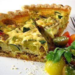 Tarta de ricotta y zapallitos @ allrecipes.com.ar