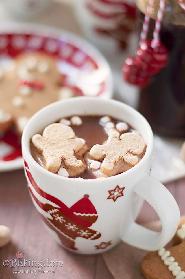 Homemade Gingerbread Hot Chocolate by ©Bakingdom