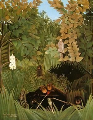 The Merry Jesters  Henri Julien Rousseau