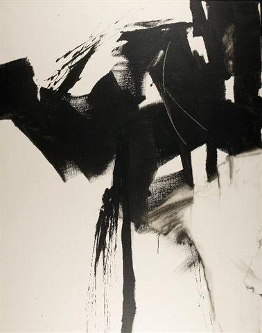 """Jean Miotte, """"Épreuve du Silence"""", acrylic on canvas"""
