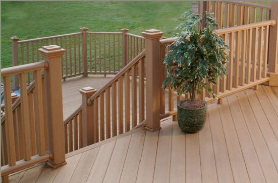 Cedar Deck Railing See more Deck Railing Ideas http://awoodrailing.com/2014/11/16/100s-of-deck-railing-ideas-designs/