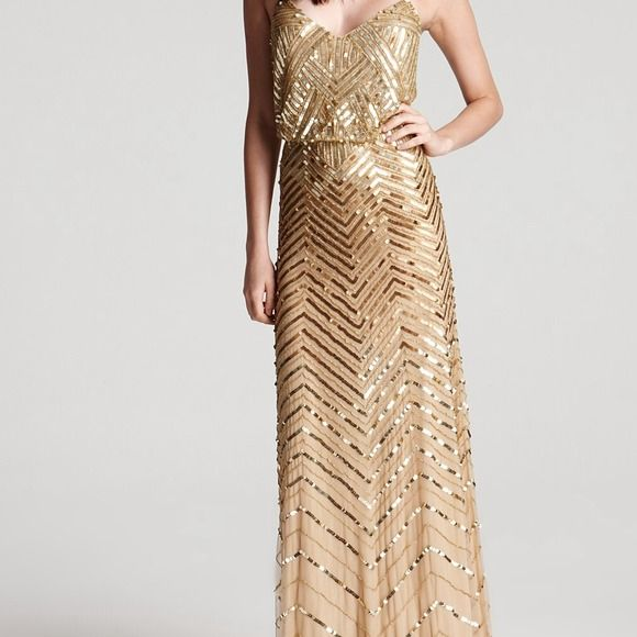 gold sequin dress with chevron - Google Search