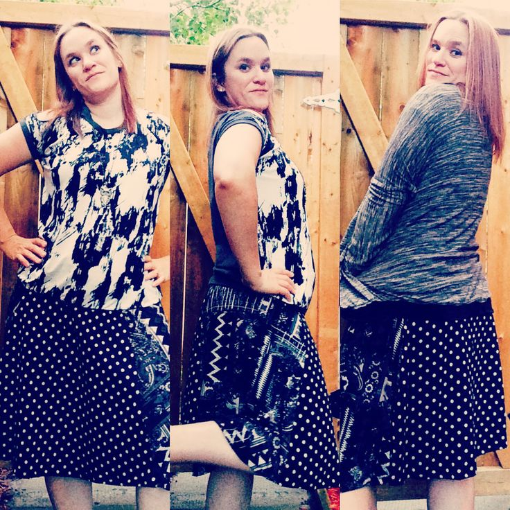 Laela Jeyne's Rose Circle Skirt is the perfect match for More 2 Hug's Diana Dolman & Patterns for Pirates Cocoon Cardigan! Flattering patterns that sew up in a jiff!