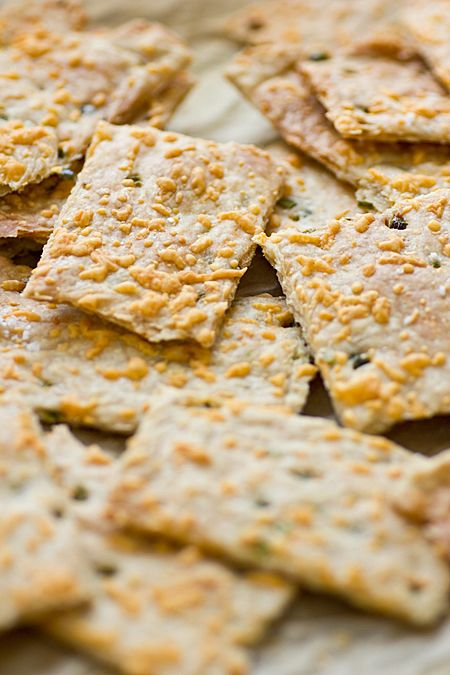 Jalapeño Cheddar Crackers Recipe ~ cheesy, crunchy, and a little bit spicy