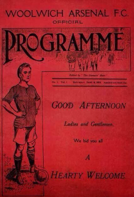 Arsenal first game at Highbury! 6 September 1913