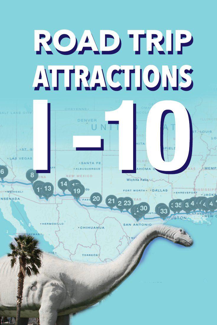 Estes são os lugares mais legais para parar em uma viagem I-10, da Flórida à Califórnia   – My travel