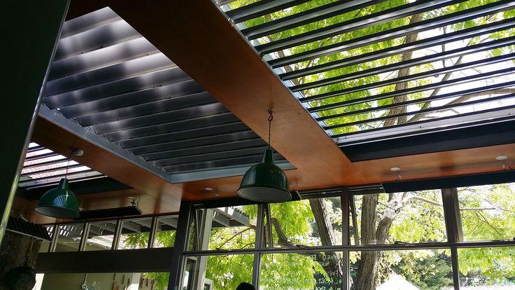 cool vergola style awning