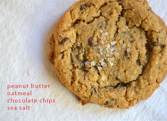 peanut butter oatmeal cookies with chocolate chips and sea salt | to ...