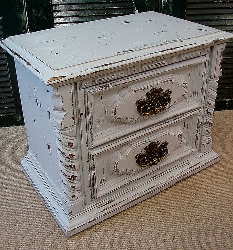 Antique Distressed White Painted Nightstand in Blowing Rock, NC, USA ~ Krrb
