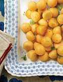 Cantaloupe Balls  >>with mint and black pepper... sounds like a wonderful taste combination