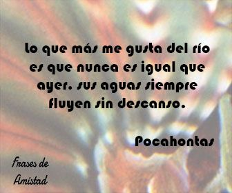Frases de amistad disney de Pocahontas