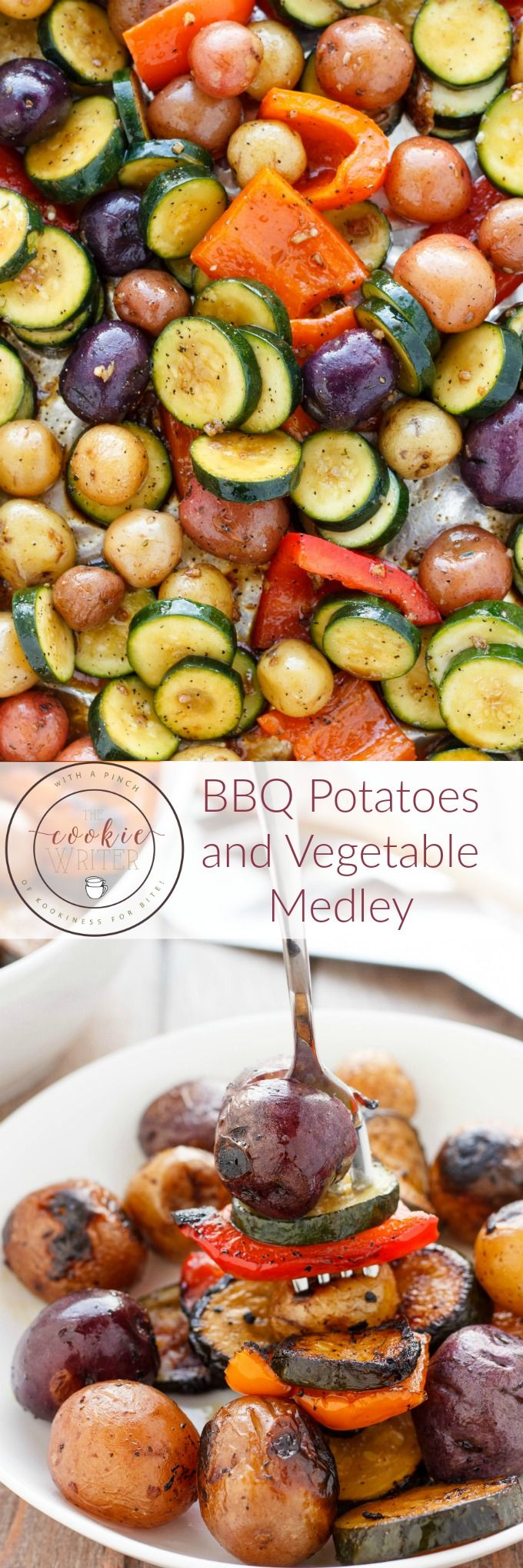 BBQ Potatoes and Vegetable Medley | #vegan #vegetarian #glutenfree #healthy #BBQ | http://thecookiewriter.com
