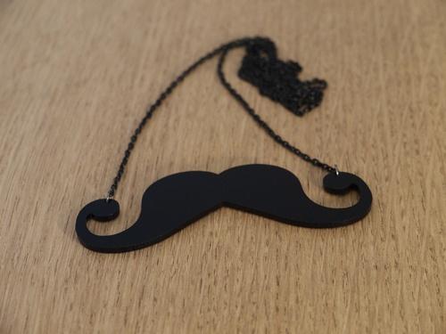 Mr Moustache necklace