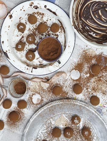Edd Kimber's salted caramel truffles - really easy recipe with great results
