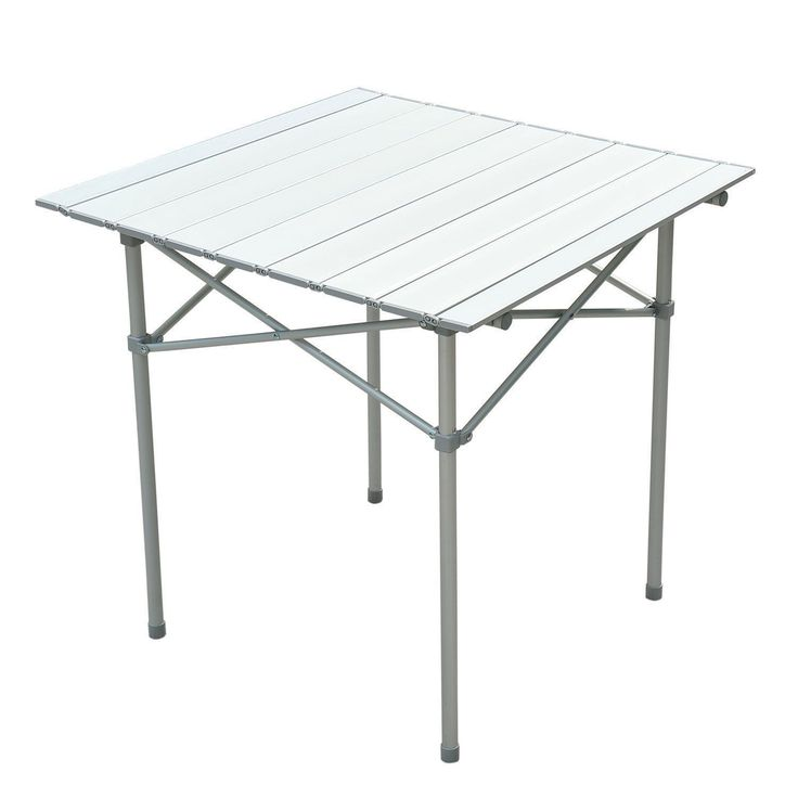 roll up portable folding camping square aluminum picnic table desk wbag seating capacity 4 easy to clean top brand new