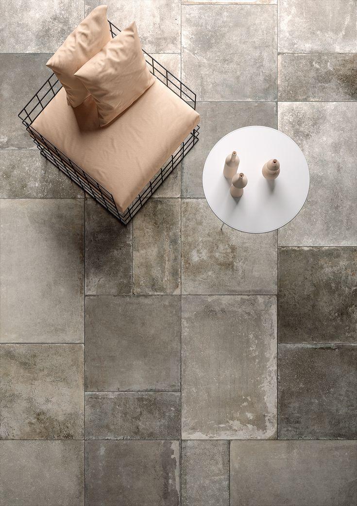 Prachtige grote maten (60x90, 60x60, 30x60) patroonvloer in een mooie kleurschakering (19-RE), Tegelhuys