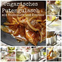 Das klassische Schmorgericht aus Ungarn wird hier mit Putenfleisch neu interpretiert: Ungarisches Putengulasch – smarter mit Knoblauch und Zitrone | http://eatsmarter.de/rezepte/ungarisches-putengulasch-smarter