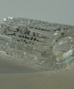 Kristallen vaas met rechthoekige vlakverdeling