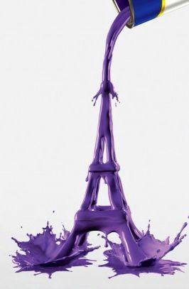 ♫ La-la-la Bonne vie ♪: Colors Purple, Tours Eiffel, Fav Colors, Purple Paintings, Eiffel Towers, Purple Paris, Purple Passion, Purple Towers, Artists Amyl