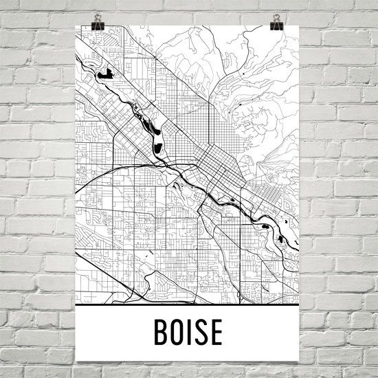 **MADE IN THE USA**  Youll love this amazing Boise Art Print! This Boise city street map shows all of the winding streets of Boise. This will fit any decor, and also make great gifts. If you love Boise, Idaho, this is for you!  Weve superimposed thousands of street lines over Boise to create this masterpiece. The different widths represent the size of the roads. Its an amazing map of Boise!  The frame/matte is not included. The default layout of the prints is a map printed to the edge of…
