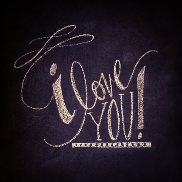 I wrote this on a little chalkboard....so sweet!