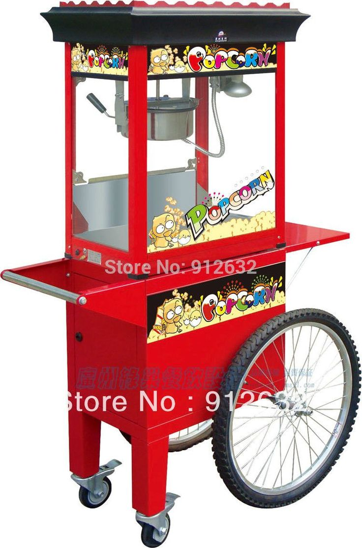popcorn machine with cart for sale