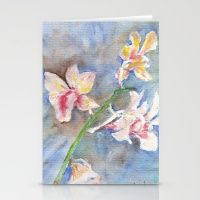 Stationery Cards featuring Tropical Orchid by Ai Store